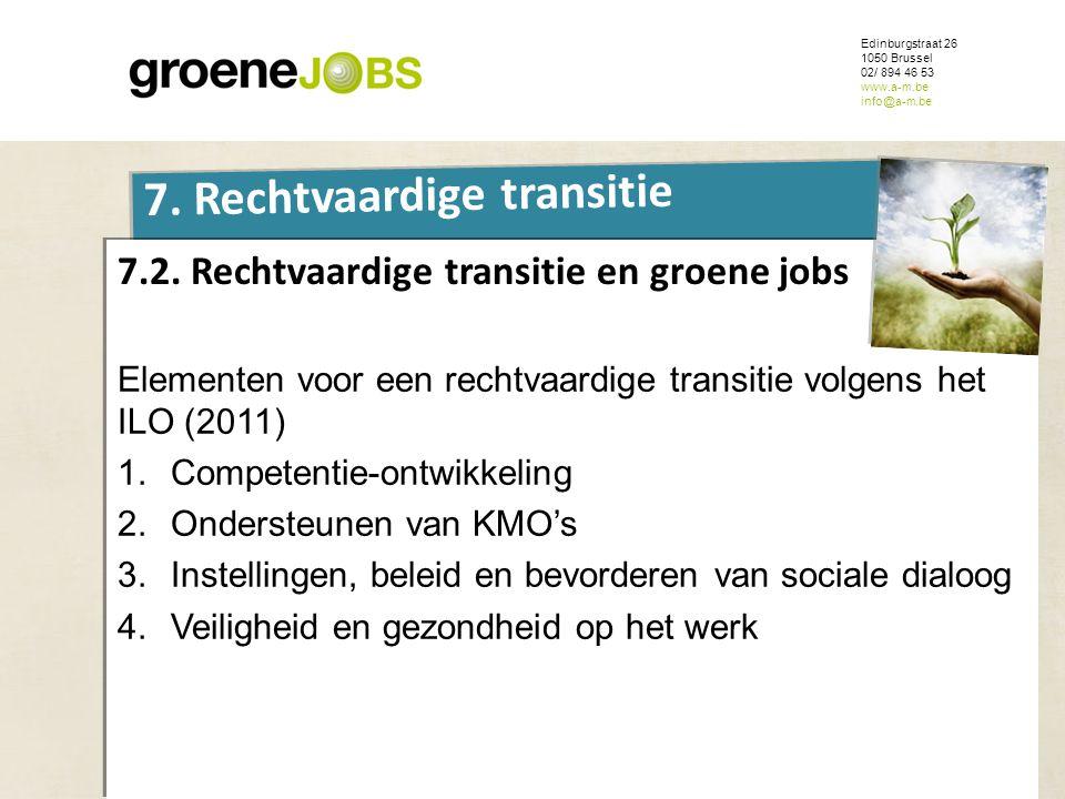 ONDERWERP Edinburgstraat 26 1050 Brussel 02/ 894 46 53 www.a-m.be info@a-m.be 7. Rechtvaardige transitie 7.2. Rechtvaardige transitie en groene jobs E
