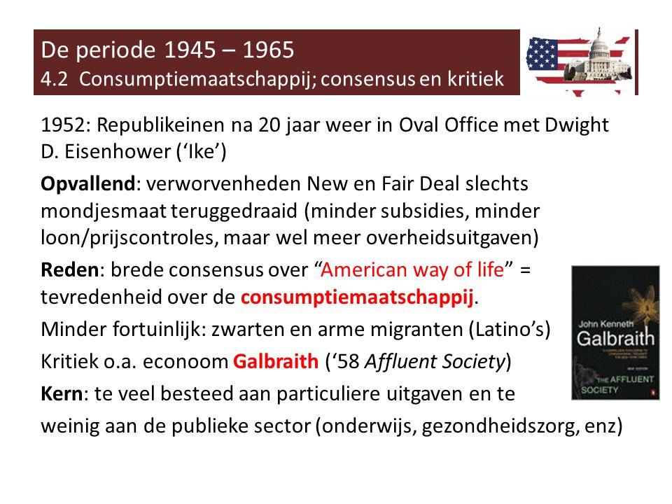1952: Republikeinen na 20 jaar weer in Oval Office met Dwight D.