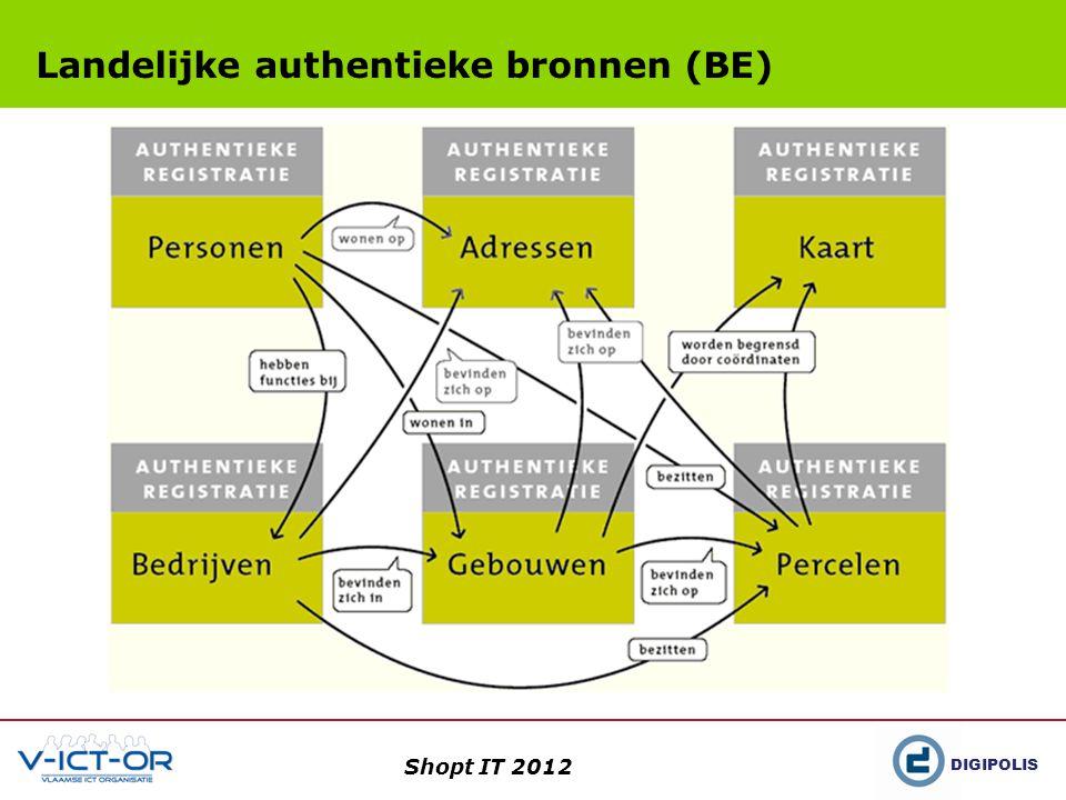 DIGIPOLIS Shopt IT 2012 Landelijke authentieke bronnen (BE)