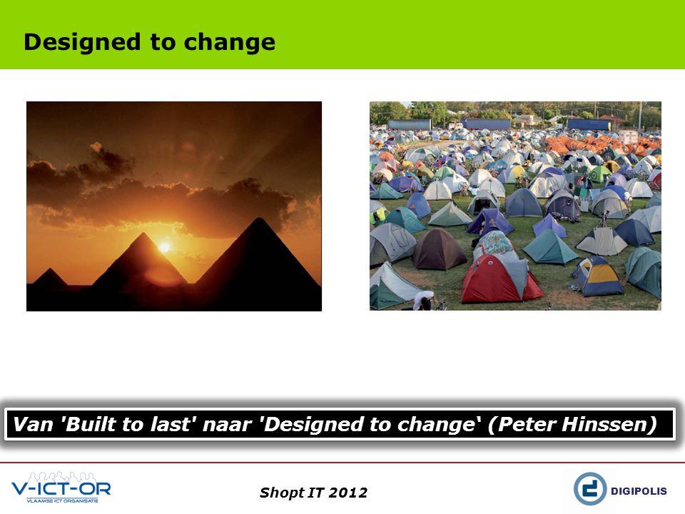 DIGIPOLIS Shopt IT 2012 Datastandaardisatie: Stepstones in het IT-moeras