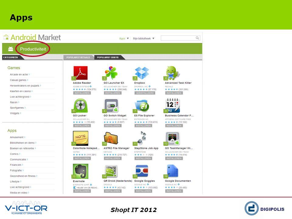DIGIPOLIS Shopt IT 2012 Productiviteit in eigen handen EvernoteDropbox
