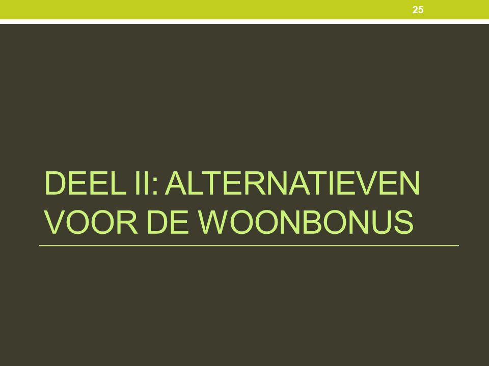 DEEL II: ALTERNATIEVEN VOOR DE WOONBONUS 25