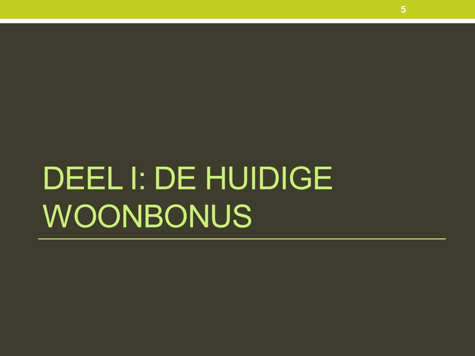 DEEL I: DE HUIDIGE WOONBONUS 5