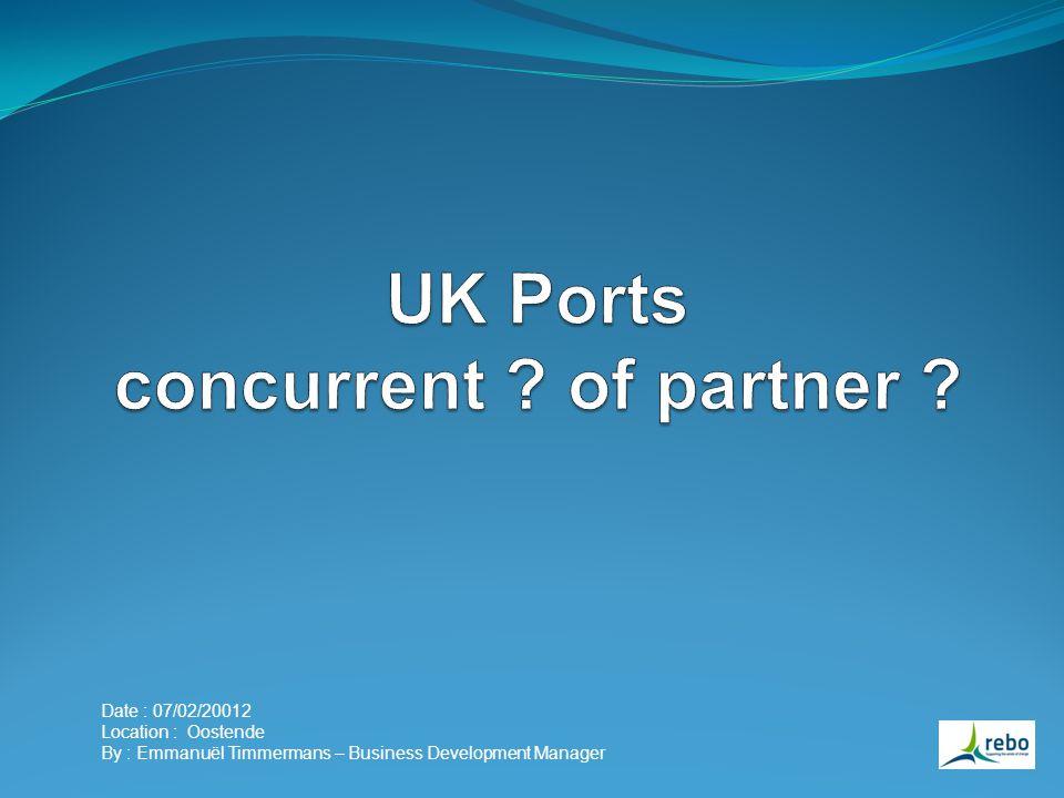 1) Ligging bepaald de interesse 2) Infrastructuur ter beschikking (PM,O&M, of meer) 3) In de UK zijn het de WT-leveranciers en de projectontwikkelaars die zelf contact opgenomen hebben met de havens.