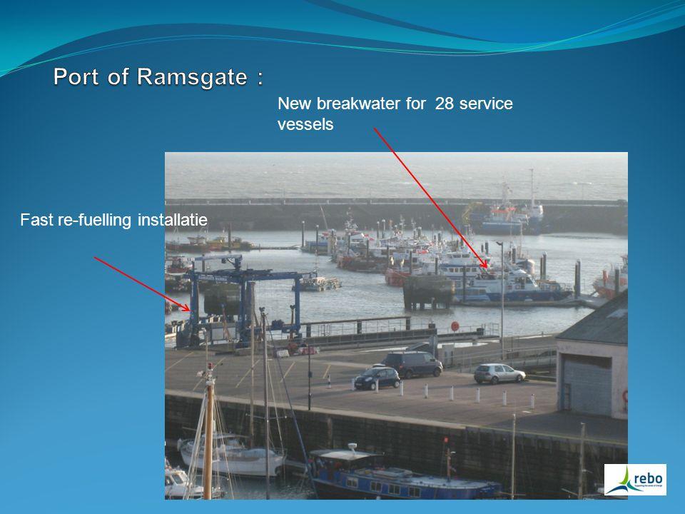 Fast re-fuelling installatie New breakwater for 28 service vessels