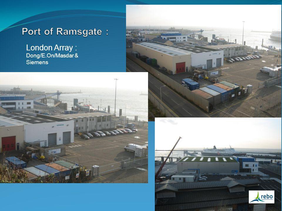 London Array : Dong/E.On/Masdar & Siemens