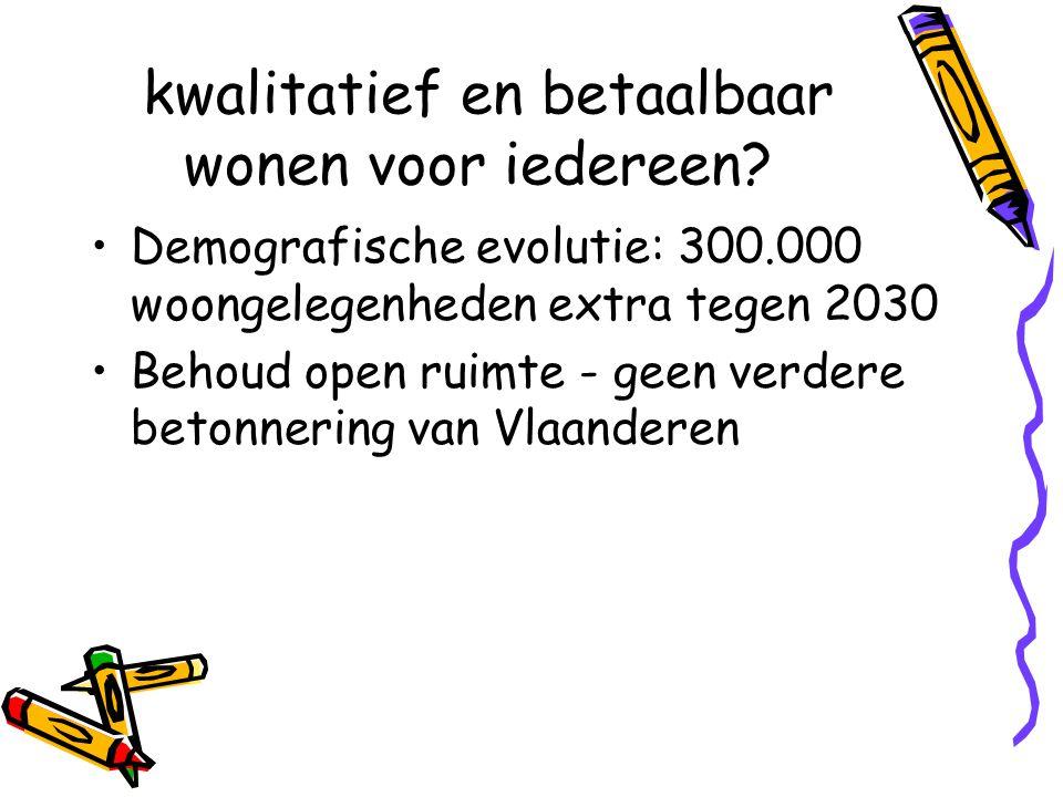Wonen in Vlaanderen op nieuwe sporen Na staatshervorming krijgt Vlaanderen •bevoegdheid over de huurwetgeving •de besteding van het budgettaire volume van de fiscale aftrek