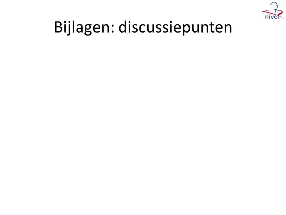 Bijlagen: discussiepunten