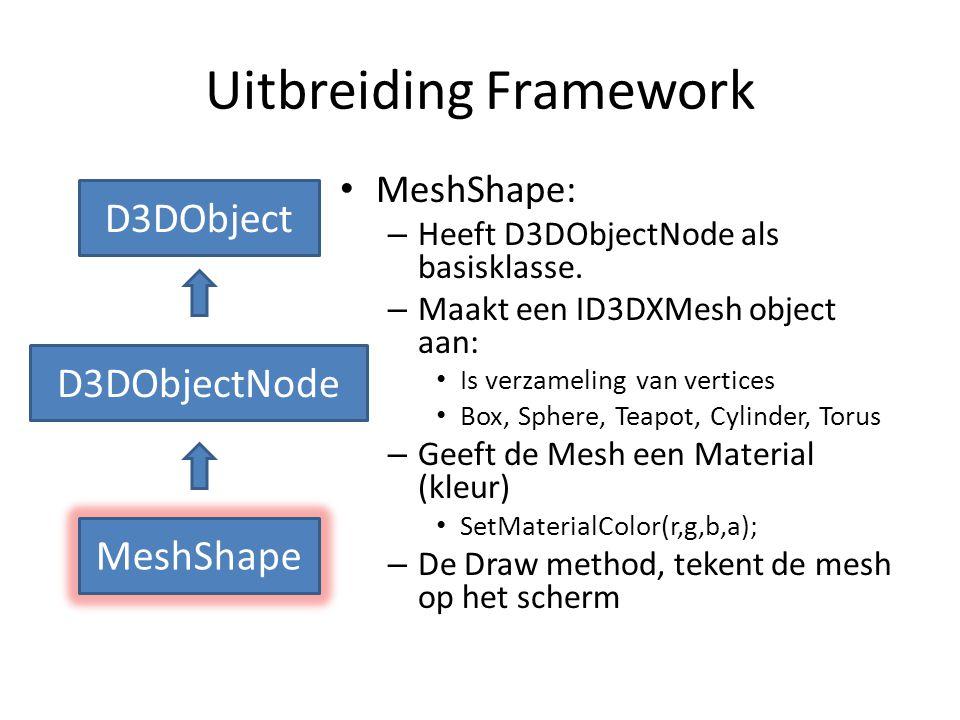 Opdracht • Op dokeos kun je de World-Mesh Solution downloaden.(f=fullscreen,esc=windowed, w=wireframe) • Zie demo docent • World-Mesh.rar bevat een exe file.
