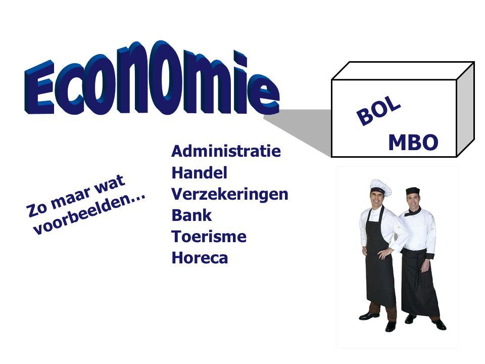 BOL MBO Zo maar wat voorbeelden… Administratie Handel Verzekeringen Bank Toerisme Horeca
