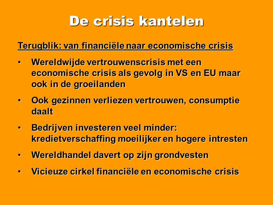 De crisis kantelen Nog meer werkloosheid en jobverlies opkomst • • Tot oktober 28.001 collectieve ontslagen geteld door ACV.