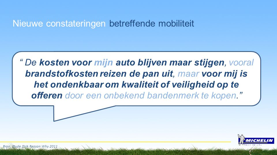 """Nieuwe constateringen betreffende mobiliteit """" De kosten voor mijn auto blijven maar stijgen, vooral brandstofkosten reizen de pan uit, maar voor mij"""