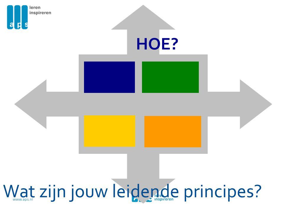 Wat zijn jouw leidende principes? HOE?