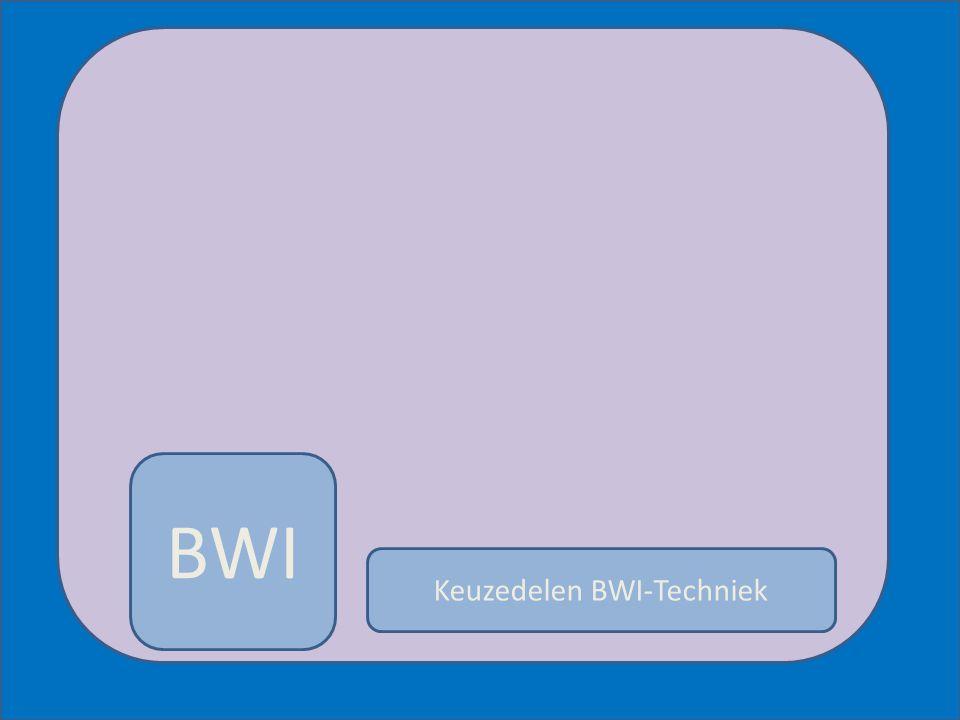 BWI Keuzedelen BWI-Techniek 1.Constructieve aansluitingen en afwerkingen 2.