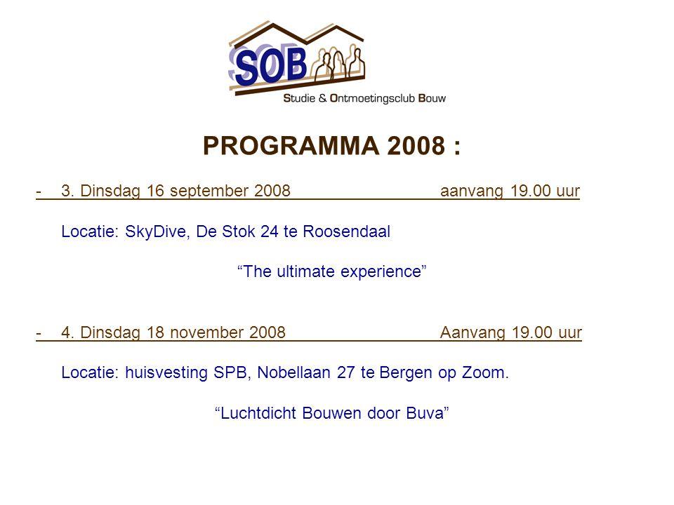 PROGRAMMA 2008 : -3.