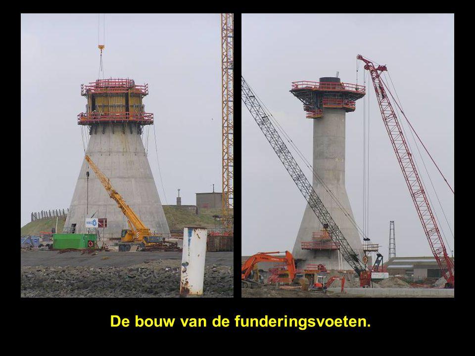 De bouw van de funderingsvoeten.