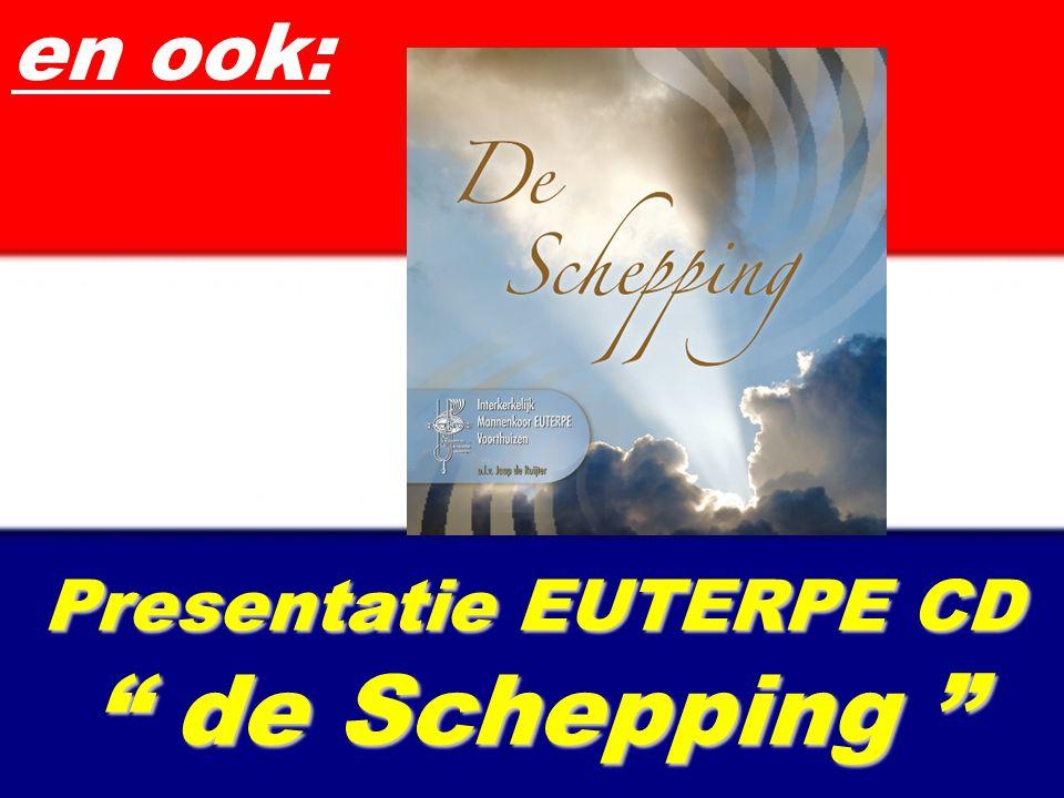 """Presentatie EUTERPE CD """" de Schepping """" en ook:"""