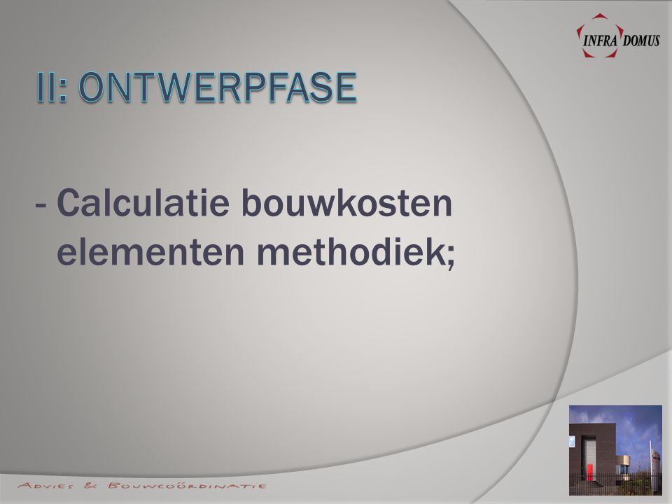 - Calculatie bouwkosten elementen methodiek;