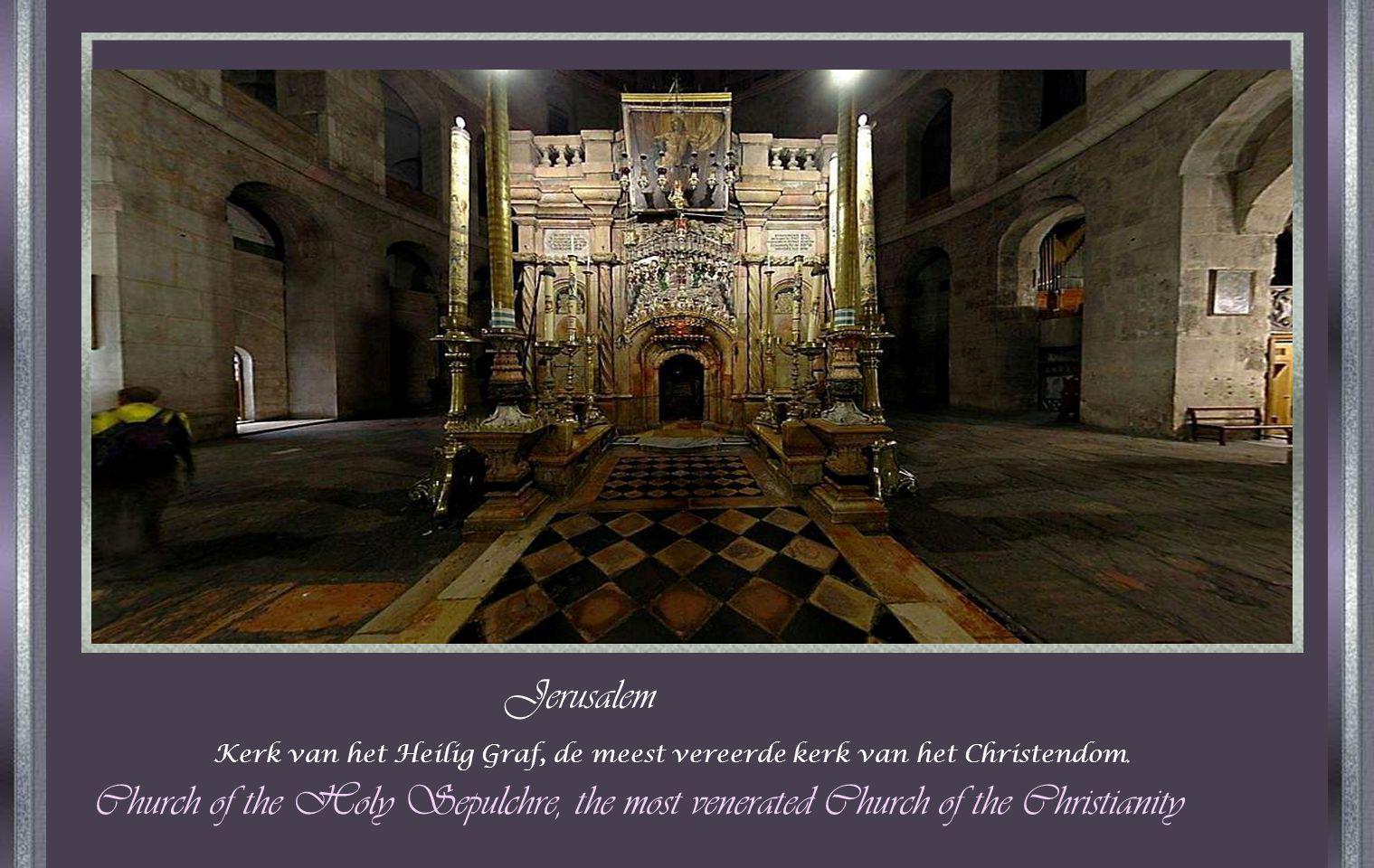 Jerusalem Kerk van het Heilig Graf, de meest vereerde kerk van het Christendom.