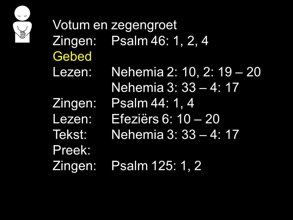 Zingen: Gezang 31: 1, 2, 3 (118) Zegen De zegen mogen we beantwoorden met het gezongen amen