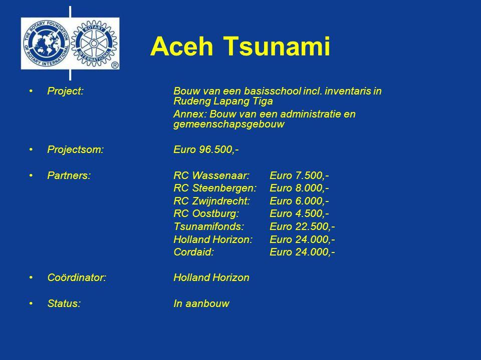 Aceh Tsunami •Project:Bouw van een basisschool incl.