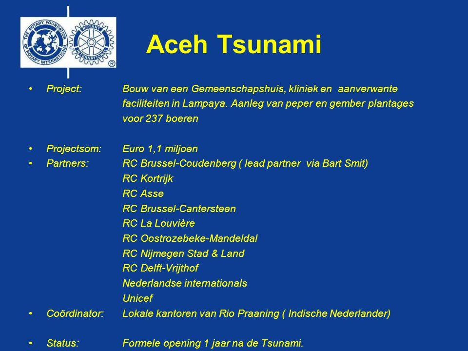 Aceh Tsunami •Project: Bouw van een Gemeenschapshuis, kliniek en aanverwante faciliteiten in Lampaya.
