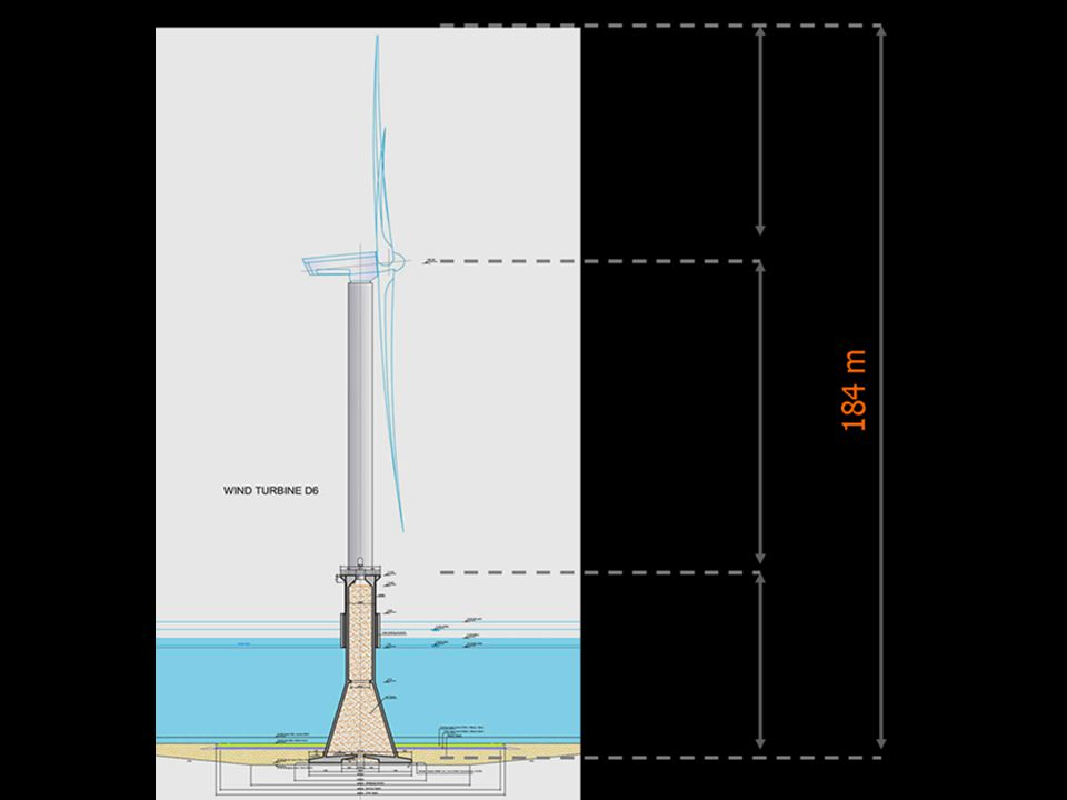2007/2008 Demonstratiefase: 6 windturbines - 1ste windmeetmast - 1ste aanlandingskabel 150kV (40km) 2009- Bouw 18 windturbines en het offshore transformatorstation 2010- Bouw 36 windturbines - 2de windmeetmast - 2de aanlandingskabel150kV (40km)