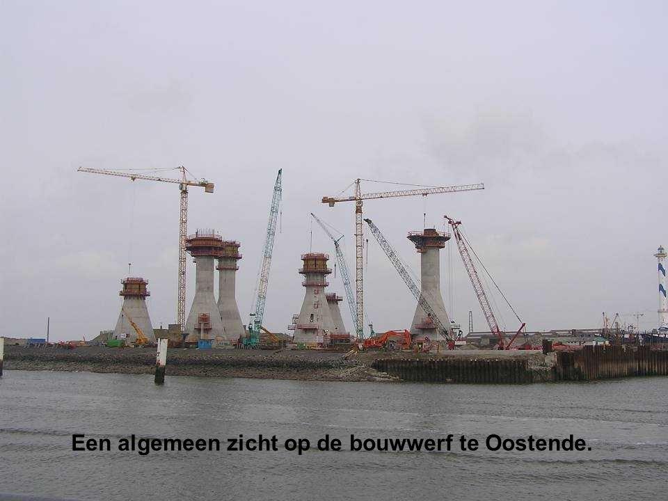 Een algemeen zicht op de bouwwerf te Oostende.