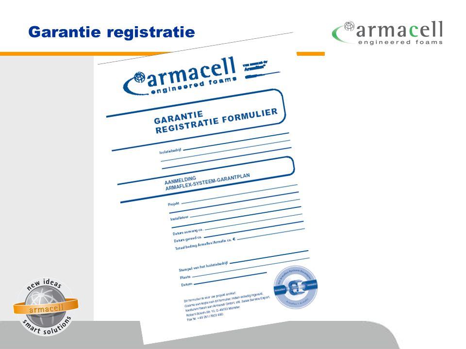Garantie registratie