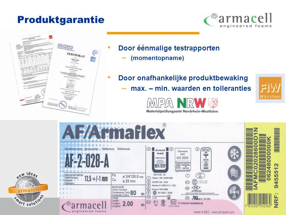 Verwerkingsgarantie • Installeren en aanbrengen volgens de voorschriften van de fabrikant • Montagehandboek • Praktijkgerichte opleiding bij de Stichting OOI