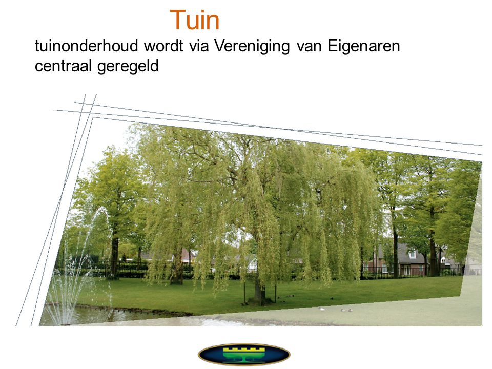 Tuin tuinonderhoud wordt via Vereniging van Eigenaren centraal geregeld