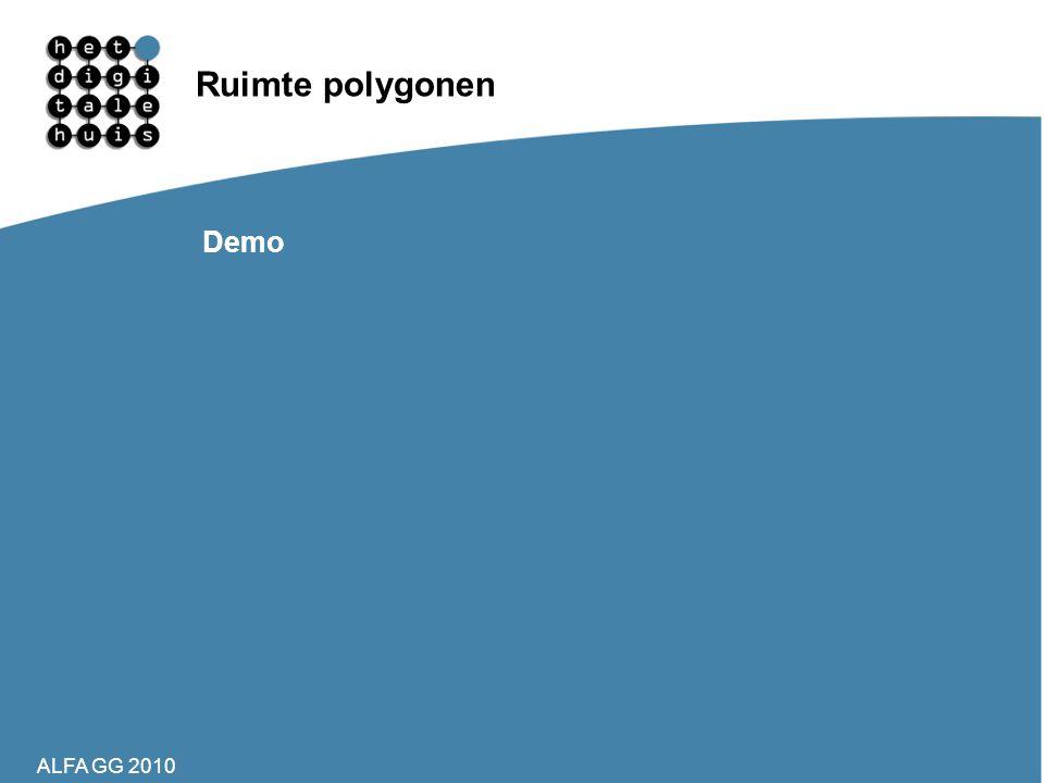 ALFA GG 2010 Ruimte polygonen Demo