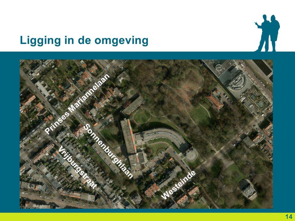 Ligging in de omgeving 14 Prinses Mariannelaan Westeinde Sonnenburghlaan Vrijburgstraat