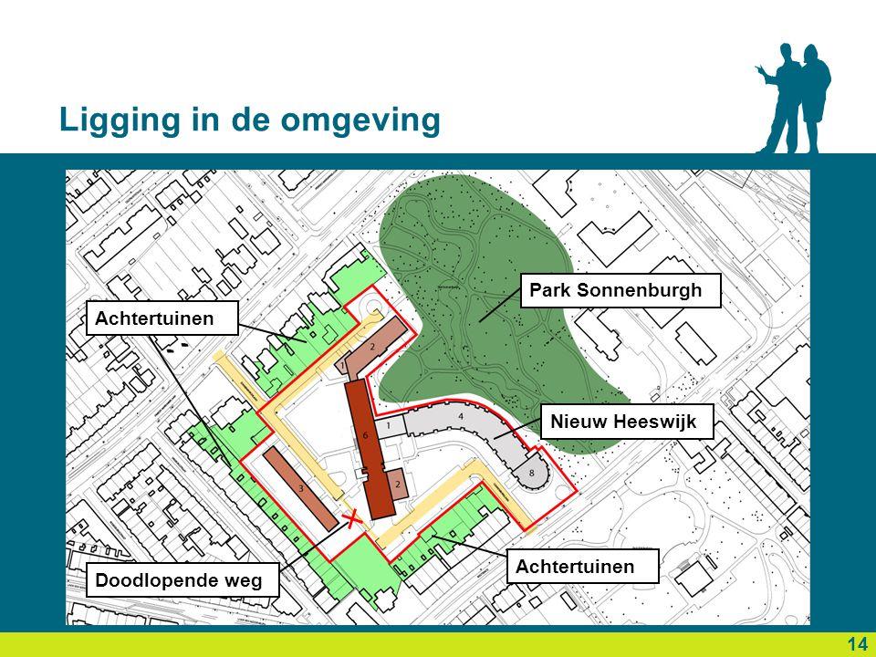 Ligging in de omgeving 16 14 Park Sonnenburgh Nieuw Heeswijk Achtertuinen Doodlopende weg