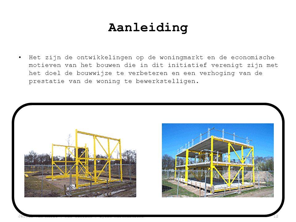 Jeroen van Aerle | Rob Ilbrink | Bjorn Kasandikromo12 Aanleiding •Het zijn de ontwikkelingen op de woningmarkt en de economische motieven van het bouwen die in dit initiatief verenigt zijn met het doel de bouwwijze te verbeteren en een verhoging van de prestatie van de woning te bewerkstelligen.