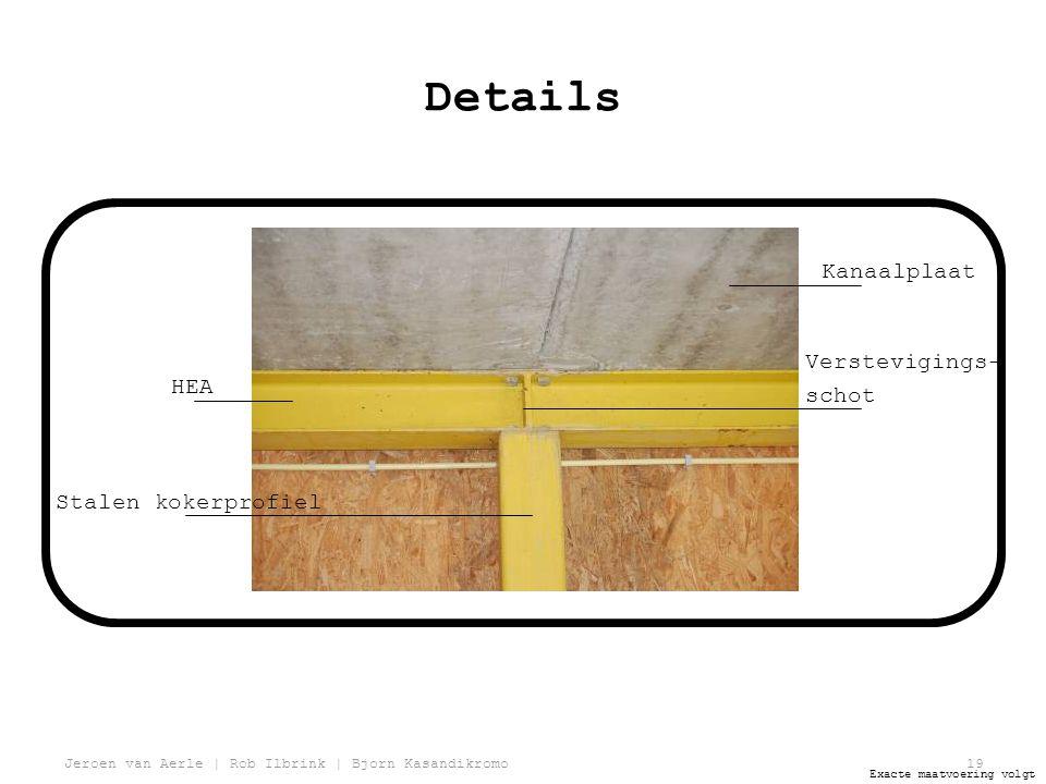 Jeroen van Aerle | Rob Ilbrink | Bjorn Kasandikromo19 Details HEA Stalen kokerprofiel Verstevigings- schot Kanaalplaat Exacte maatvoering volgt