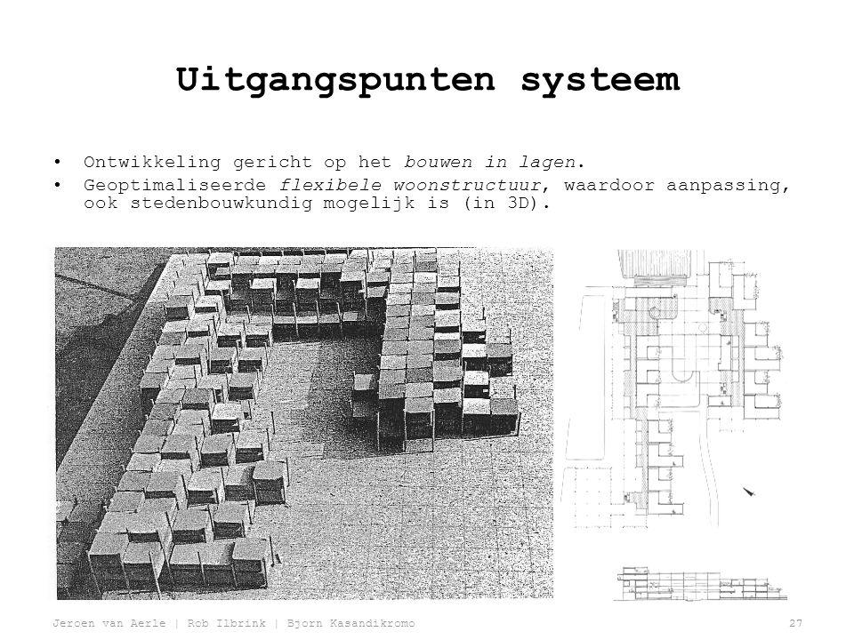 Jeroen van Aerle | Rob Ilbrink | Bjorn Kasandikromo27 Uitgangspunten systeem •Ontwikkeling gericht op het bouwen in lagen.
