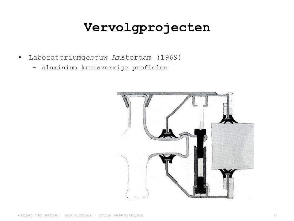 Jeroen van Aerle | Rob Ilbrink | Bjorn Kasandikromo8 Vervolgprojecten •Laboratoriumgebouw Amsterdam (1969) –Aluminium kruisvormige profielen