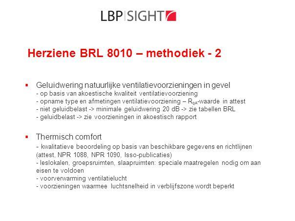 Herziene BRL 8010 – methodiek - 2  Geluidwering natuurlijke ventilatievoorzieningen in gevel - op basis van akoestische kwaliteit ventilatievoorzieni