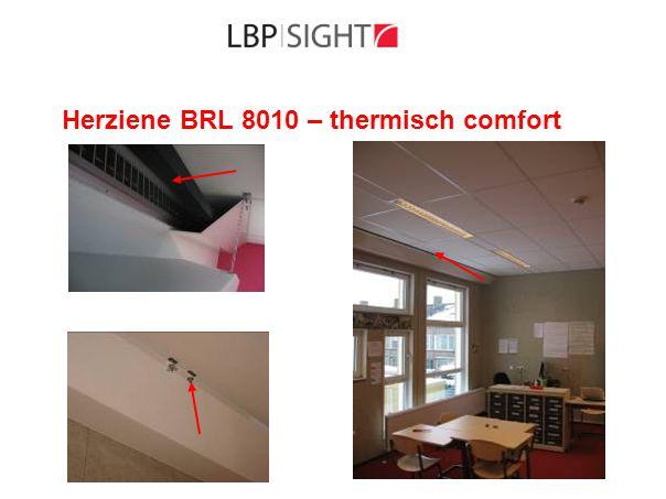 Herziene BRL 8010 – methodiek - 3  Regeling capaciteit - eisen Bouwbesluit - ISSO-publicaties 61, 62, 91 en 92  Luchtkwaliteit - verdunningsfactor - eisen Bouwbesluit  Geluid ten gevolge van ventilatiesysteem - scholen, kinderdagverblijven: 35 dB - verblijfsruimten woningen: 30 dB - procedure: conform bijlage BRL 8010 of NEN 5077