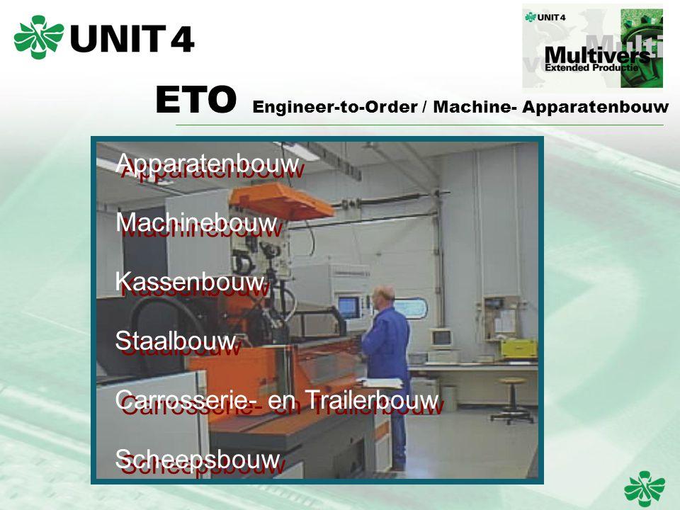 ETO Engineer-to-Order / Machine- Apparatenbouw Apparatenbouw Machinebouw Kassenbouw Staalbouw Carrosserie- en Trailerbouw Scheepsbouw