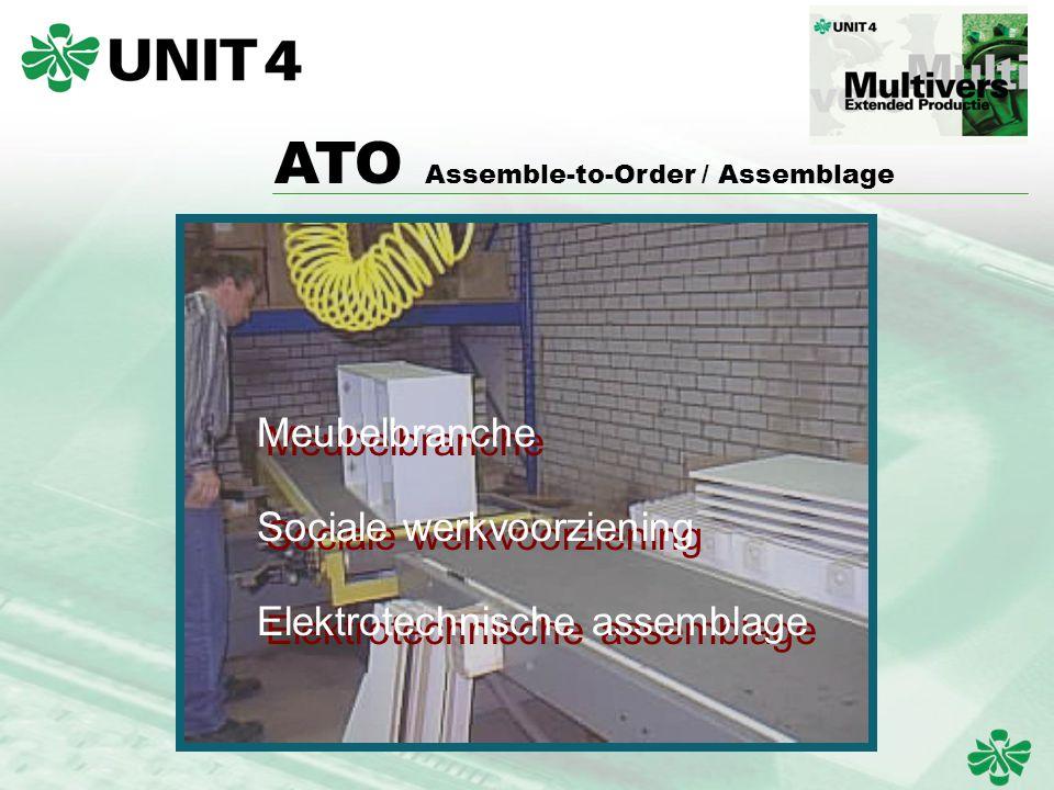 ATO Assemble-to-Order / Assemblage Meubelbranche Sociale werkvoorziening Elektrotechnische assemblage