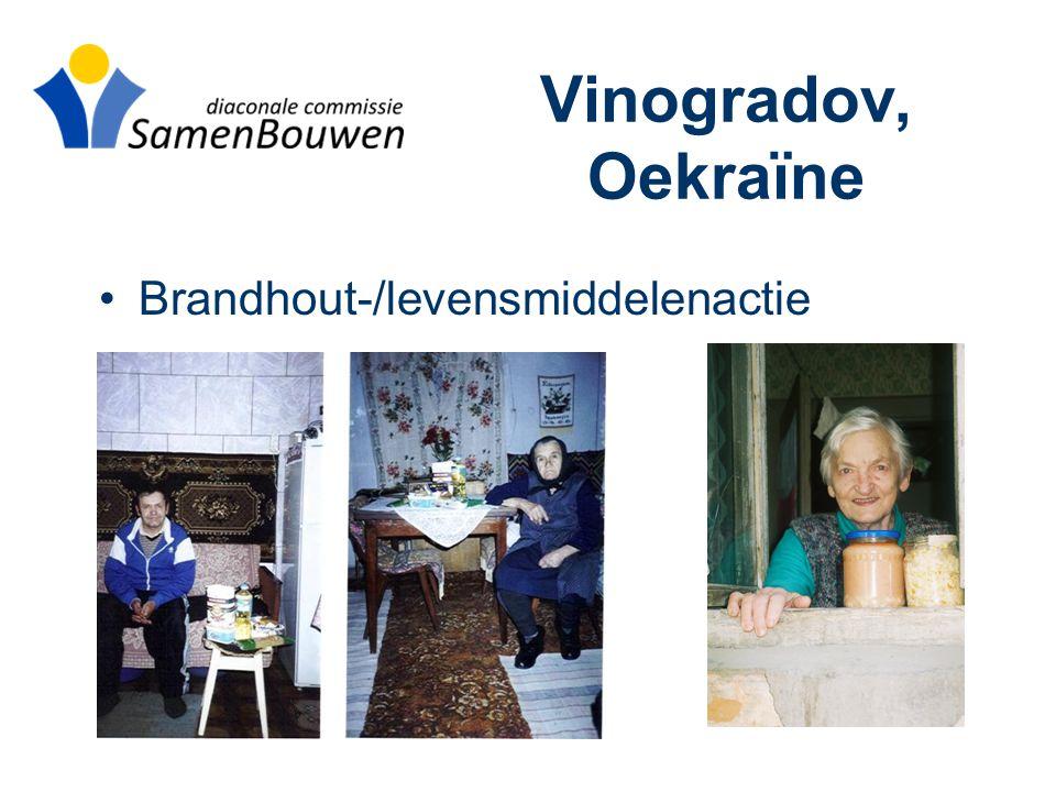 Vinogradov, Oekraïne •Brandhout-/levensmiddelenactie