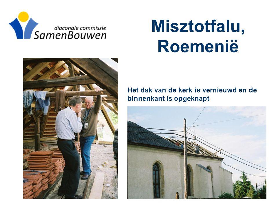 Het dak van de kerk is vernieuwd en de binnenkant is opgeknapt