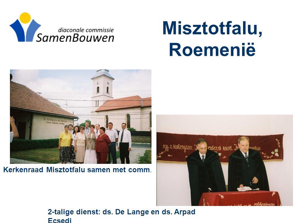Misztotfalu, Roemenië Kerkenraad Misztotfalu samen met comm.