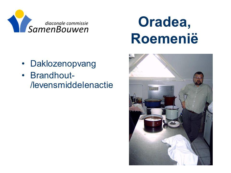 Oradea, Roemenië •Daklozenopvang •Brandhout- /levensmiddelenactie