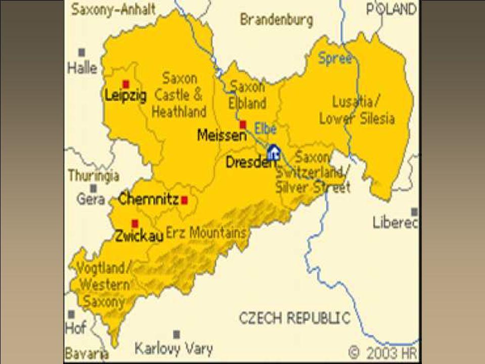 De bakermat van Saksen is Meissen, dat ook porseleinstad is.