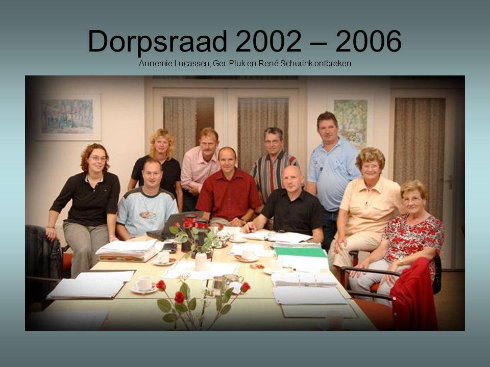 Dorpsraad 2002 – 2006 Annemie Lucassen, Ger Pluk en René Schurink ontbreken