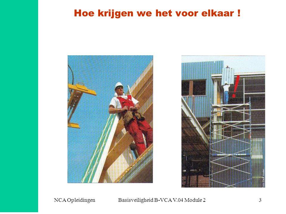 NCA Opleidingen Basisveiligheid B-VCA V.04 Module 23 Hoe krijgen we het voor elkaar !
