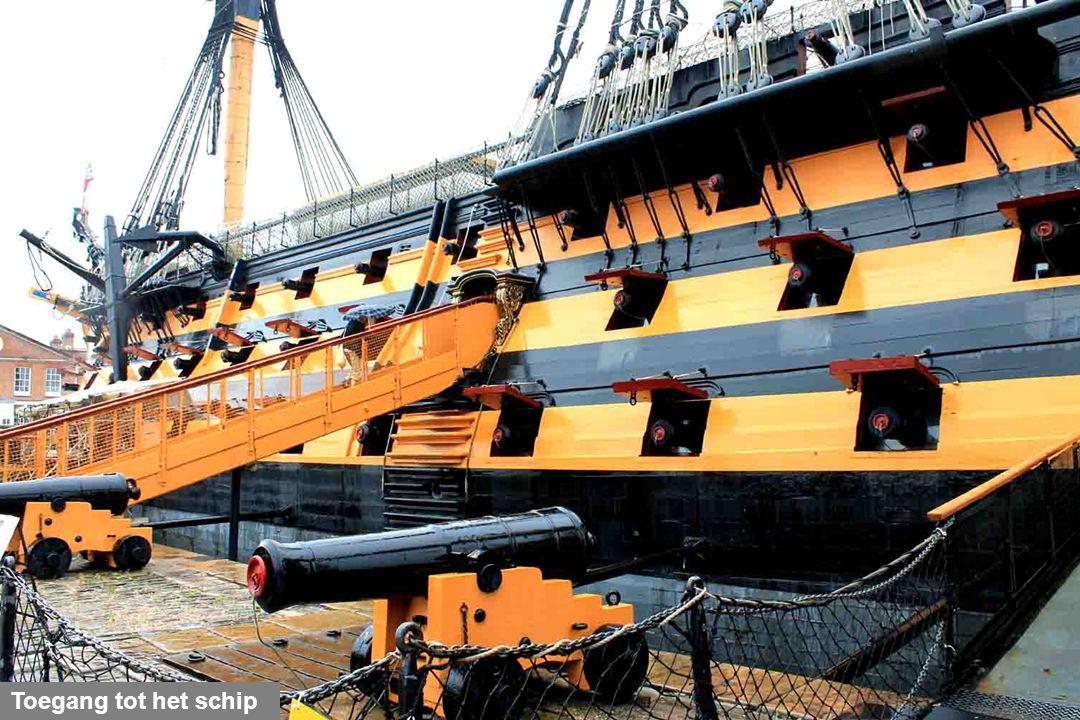 Op dit schip overwon admiraal Nelson in Trafalgar (21 oktober 1805) de gecombineerde vloten van Frankrijk en Spanje